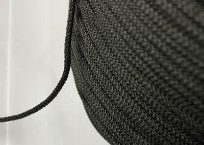 2. Кръгъл шнур Черно за подаръчни торбички и др.